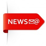 Long red arrow sticker NEWS