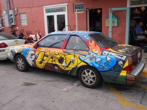Voiture peinte-Visite-médicale-permis-conduire