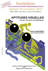 """""""Aptitudes visuelles : l'œil sain, l'œil opéré, l'œil pathologique"""""""